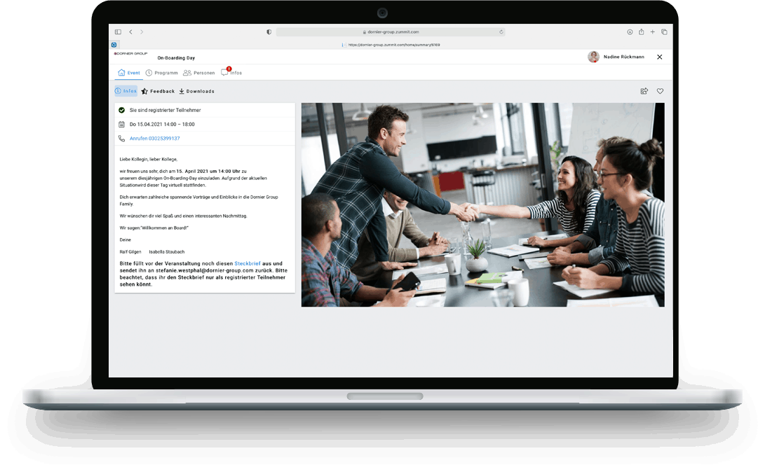 Referenz Dornier Group - Desktop
