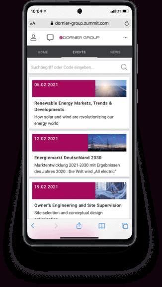 Referenz Dornier Group - Smartphone