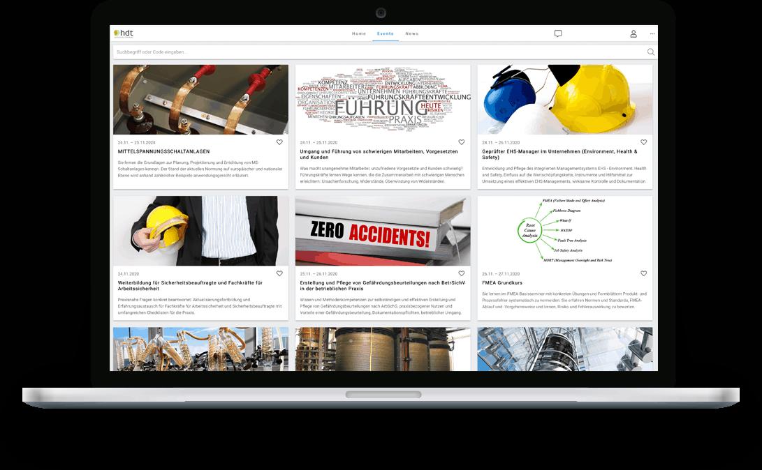 zummit Referenz: hdt Event-Platform - Desktop